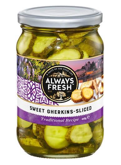 Sweet Gherkins – Sliced