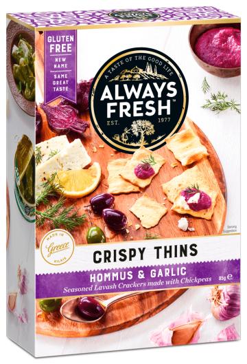 Crispy Thins – Hommus & Garlic
