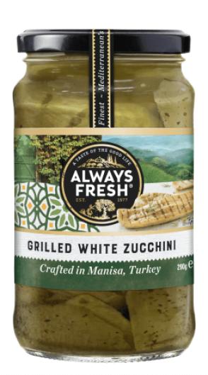 Grilled White Zucchini