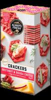 Beetroot & Gouda Cheese Crackers