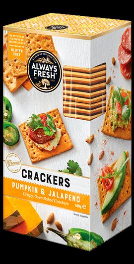Pumpkin & Jalapeno Crackers
